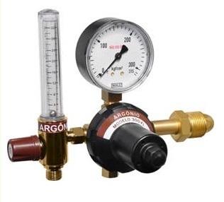 Regulador de pressão com fluxômetro para cilindro